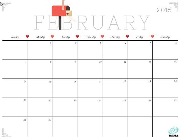 Free Monthplanner 2016_2