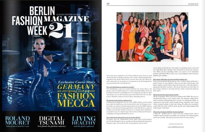 mercedes benz fashion week magazine no21